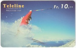 SWITZERLAND C-849 Prepaid Teleline - Leisure, Freestyle-skiing - Used - Svizzera