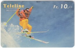 SWITZERLAND C-851 Prepaid Teleline - Leisure, Freestyle-skiing - Used - Svizzera