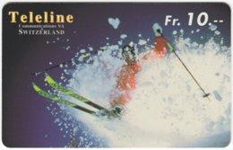 SWITZERLAND C-852 Prepaid Teleline - Leisure, Freestyle-skiing - Used - Svizzera