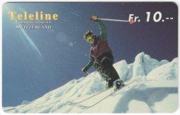 SWITZERLAND C-853 Prepaid Teleline - Leisure, Freestyle-skiing - Used - Svizzera