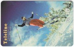SWITZERLAND C-854 Prepaid Teleline - Leisure, Freestyle-skiing - Used - Svizzera