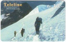 SWITZERLAND C-856 Prepaid Teleline - Leisure, Freestyle-skiing - Used - Svizzera