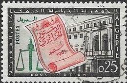 ALGERIA 1963 Promulgation Of Constitution - 25c Constitution FU - Algérie (1962-...)