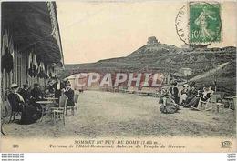 CPA Sommet Du Puy De Dome Terrasse De L'Hotel Restaurant Auberge Du Temple De Mercure - Ohne Zuordnung