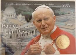 Carte-hommage Au Décès Du Pape Jean-Paul II + Pièce 2zl Incluse - 2005 - - Polen