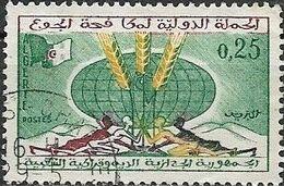 ALGERIA 1963 Freedom From Hunger - 25c Campaign Emblem And Globe FU - Algérie (1962-...)