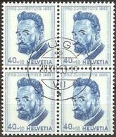 Schweiz Suisse 1953: Ferdinand Hodler (1853-1918) Zu 152 Mi 592 Yv 543  Block Mit O ZUG 28.XII.53  (Zumstein CHF 52.00) - Pro Juventute