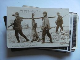America USA Hunting And Shooting A Hare Photocard - Autres