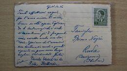 STORIA POSTALE CARTOLINA OCCUPAZIONE ITALIA CON ANNULLO DI SPALATO SPLIT 2 SU F.LLO YUGOSLAVIA ISTRIA CROAZIA - 1900-44 Victor Emmanuel III