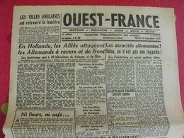Journal Ouest-France N° 38 Du 19 Septembre 1944. FFI Résistance épuration Bonny Lafont Clavier Camelin Denis Japon - Guerra 1939-45