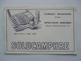 VIEUX PAPIERS - BUVARD : SOLUCAMPHRE - Produits Pharmaceutiques