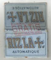 Tabac , Papier à Cigarettes , RIZLA + Automatique ,echantillon Gratis ,2 Scans , Frais Fr 1.85 E - Tabac (objets Liés)