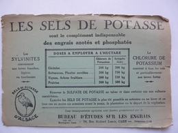 VIEUX PAPIERS - BUVARD : LES SELS DE POTASSE D'ALSACE - Produits Pharmaceutiques
