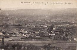 AMBERIEU Panorama De La Gare Et Les Montagnes Du Bugey - Autres Communes