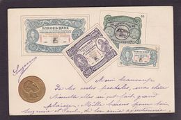 CPA Billet De Banque Banknote Circulé Norway Norge Norvège Monnaie Gaufrée Royalty - Monete (rappresentazioni)