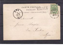 N° 56 / Carte De L AMBULANT Arlon  Bruxelles  2   Griffe VIGNEE  Carte Abimee - 1893-1907 Stemmi
