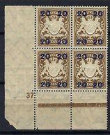 ALLEMAGNE Bavière 1920:  Bloc De 4 CDF Du Y&T 195,  Neufs** - Bayern