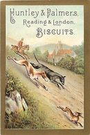 -chromo-ref CHA955- Biscuits Huntley And Palmers -reading -london -chiens Levriers -chasse Au Lievre - 11x7,5cms - - Snoepgoed & Koekjes