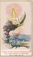 IMAGE PIEUSE Religieuse De 1881 En Couleur De Turgis - Religion Catholique Catholicisme - Colombe - Etoile Mer Naufrage - Devotieprenten