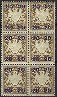 ALLEMAGNE Bavière 1920:  Bloc De 6 Du Y&T 195,  Neufs** - Bayern