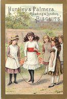 -chromo-ref CHA954- Biscuits Huntley And Palmers -reading -london -saut A La Corde - Enfants  - 11x7,5cms - - Snoepgoed & Koekjes