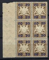 ALLEMAGNE Bavière 1920:  Bloc De 6 BDF Du Y&T 195,  Neufs** - Bayern