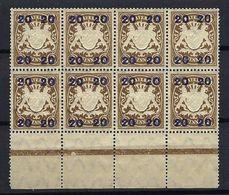 ALLEMAGNE Bavière 1920:  Bloc De 8 BDF Du Y&T 195,  Neufs** - Bayern