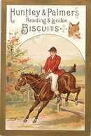 -chromo-ref CHA953- Biscuits Huntley And Palmers -reading -london -chasse A Courre Au Renard -hunting Fox  - 11x7,5cms - - Snoepgoed & Koekjes