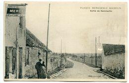Plaque Municipale MICHELIN Sortie De DAMMARTIN ( Don De Michelin Merci ) - Werbepostkarten