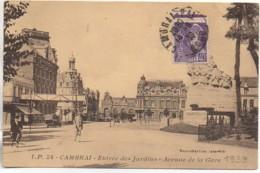 59 CAMBRAI Entrée Des Jardins - Avenue De La Gare - Cambrai