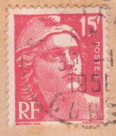 15F Marianne De Gandon Variété Gros Chiffres Faciale (Cérès Spécialisé 813j) Seul / Lettre SARTENE CORSE 1951 - 1945-54 Marianna Di Gandon