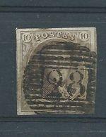 N°10  OBLITERE P 28 CINEY - 1858-1862 Medaglioni (9/12)
