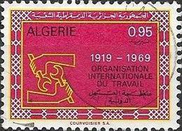 ALGERIA 1969 50th Anniversary Of ILO - 95c I.L.O. Emblem FU - Algérie (1962-...)