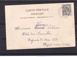 N° 53  / Carte De L AMBULANT  TOURNAI  BRUXELLES - 1893-1907 Stemmi