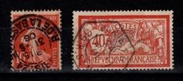 Belles Obliterations Paris (dont Hexagonale) Sur YV 119 & 138 TTB - Usados