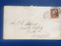 GB Victoria 1878 Cover Birkenhead Duplex To Liverpool - Coal Merchant - Tied With Plate 153 - Storia Postale