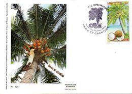 MAYOTTE 0209 Fdc Cocotier - Frutta