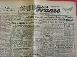 Journal Ouest-France N° 88 Du 18-19 Novembre 1944. Avance Des Américains Metz Résistance FFI épuration Lelong Marion - Guerra 1939-45