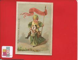Paris Godchau Faubourg Montmartre Chromo  Calendrier 1877 Jockey Cheval Etendard  Dupuy - Andere