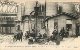 GREVE DES CHEMINOTS DU NORD 1910 SURVEILLANCE DE LA VOIE FERREE PAR LA POLICE - Huelga