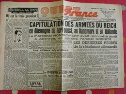 Journal Ouest-France N° 228 Du 5-6 Mai 1945. Capitulations Des Armées Du Reich Doenitz Laval Ravensbruck Auschwitz - Guerra 1939-45