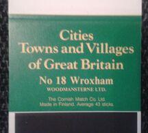 Matchbox Labels CITIES TOWNS AND VILLAGES OF GREAT BRITAIN C  (BLACK) 18 PCS  D-0378 - Boites D'allumettes - Etiquettes