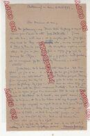 Lettre * Autographe De Maurice Genevoix écrivain France Plus Carte De Visite Châteauneuf Sur Loire 6 Avril 1923 - Autographes