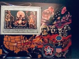 COMORES 1976 1 Bloc 5A Neuf ** Bicentenaire Des États Unis Komoren - Comores (1975-...)