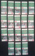 Matchbox Labels CITIES TOWNS AND VILLAGES OF GREAT BRITAIN C  (WHITE/PINK) 18 PCS  D-0379 - Boites D'allumettes - Etiquettes