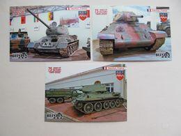 3 PCs France Saumur.The Musée Des Blindés (Museum Of Armoured Vehicles) Tank T-34 Modern PCs - Weltkrieg 1939-45