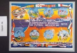 Mexico 1986 Wereldkampioenschap Voetbal In Blokken Van Zes - Messico