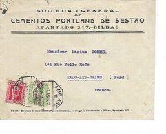 LE 0908. N° 488-505 C. Oct. AMB. ASC./II / BILBAO /S.JULIAN DE MU.. 1 AGO 32 S/L. De BILBAO Vers Malo-lez-B. (F) - 1889-1931 Royaume: Alphonse XIII