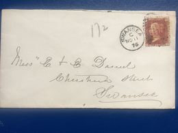GB Victoria 1876 Cover Swansea Duplex Tinternal - Tied With Plate 172 - Storia Postale