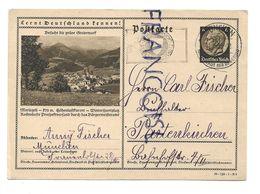 """Propagande Lors De L'Anschluss:"""" Lernt Deutschland Kennen"""". Mariazell En Autriche. Timbre Paul Von Lindenburg. - Weltkrieg 1939-45"""